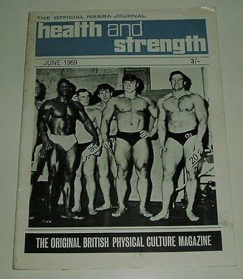 Health And Strength Magazine Ray Powell Issue Uk Import 6/1969 Fine-