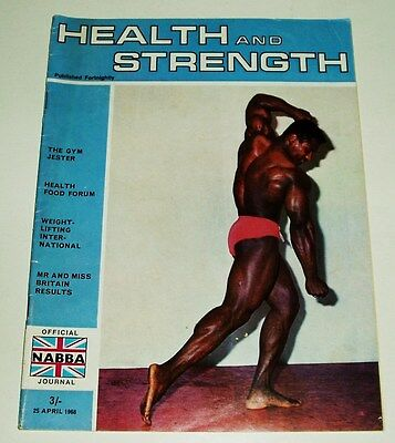 Health And Strength Magazine The Gym Jester Issue Uk Import 4/25/1968 Fine-