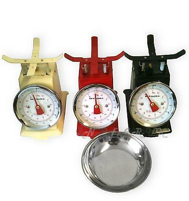 red black cream Retro Vintage Kitchen Weighing Scales Steel 3kg scale mechanical