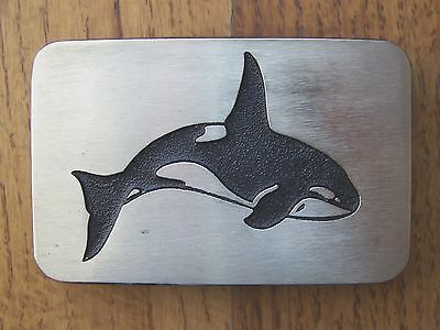 Northwest  Native  American  Solid  Bronze  Belt  Buckle - Shark