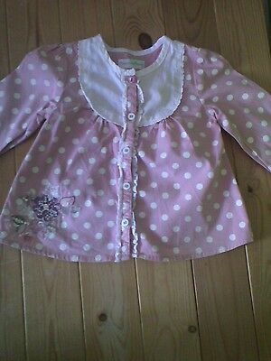Girls mamas & papas blouse / 3-6 months / spotted