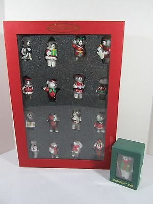 Collectible Santa Bear Ornament 15 Years 1999 Set + Additional Ornament