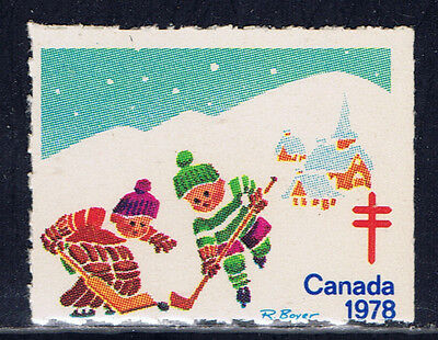 Canada #77a(6) 1978 Christmas Seals CHILDREN PLAYING HOCKEY MNH