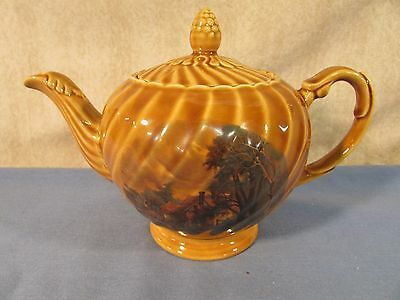 Vintage Ellgreave Wood & Sons Brown Teapot
