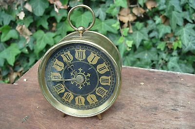 Drum Clock Working Brass  Clock Platform Escapement  Balance  See Video