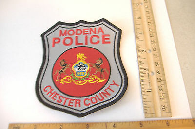 Modena Police~Chester County~Pennsylvania Fabric Patch