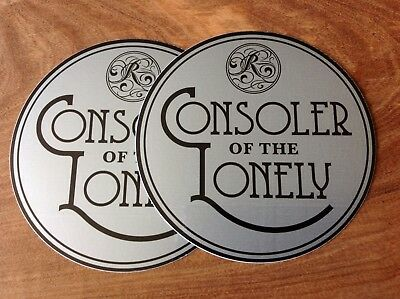 THE RACONTEURS CONSOLER OF THE LONELY Lot of 2 Promotional stickers
