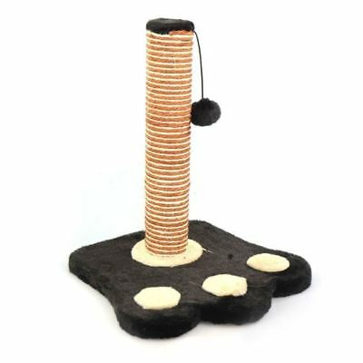 Cat Scratch Post Kitten Activity Pole Pad Climbing Play Sisal Scratch Toy Pompom