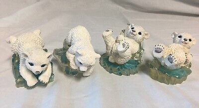 The Hamilton Collection Christmas Set Of 4 Polar Playmates By Michael Adams