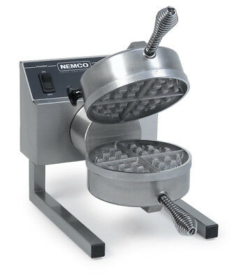 Nemco Belgian Waffle Baker Iron Fixed Single Silverstone Grid - 7020A-1S208