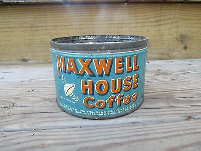 Vintage MAXWELL HOUSE Key Opened 1 Pound Coffee Can - Beautiful COLOR Condition!