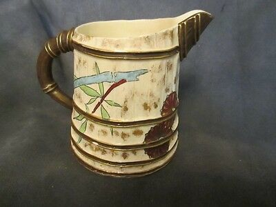 1881 WORCESTER - Antique Handpainted Cream Pitcher - Asian Motif