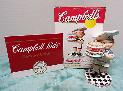 CAMPBELL'S ~ CAMPBELL KIDS ~ GIRL WITH BIRTHDAY CAKE ~ 100th ANNIVERSARY ~ NEW