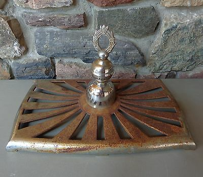 Vintage Wood Parlor Stove Cast Iron Top with Finial
