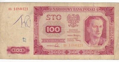1948 poland 200 Zlotych Note, Pick 139a