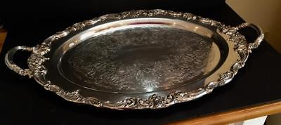Reed & Barton Silver Plate Oval Butler Serving Platter with Handles