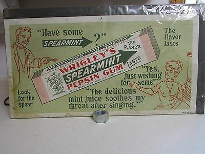Vintage Wrigley's Spearmint Gum Trolley Poster Advertising  Graphics Dated 1927
