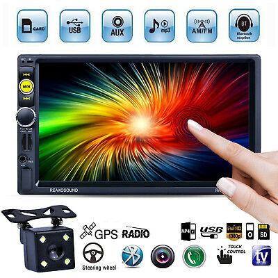 "7"" Double 2 Din Car GPS Navigation MP5 MP3 Radio Player RDS No-DVD/CD Bluetooth"