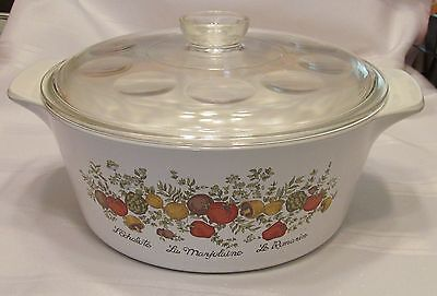 Corning Ware 4 Qt Spice of Life Round Casserole with Glass Lid - B-4-B