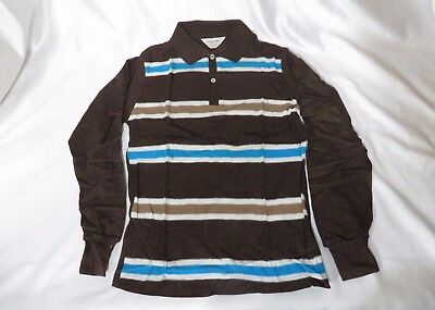 Vintage Shirt 50s Knit Campus Surfer Cotton Rockabilly Henley Stripes NOS NWT