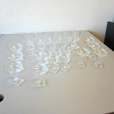26 Pc Vintage Heisey Glass NEW ERA Art Deco Clear Water Sherry Sherbet Champagne