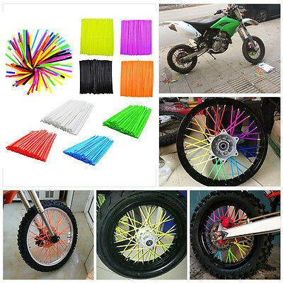 36Pcs Motor Motocross Dirt Bike Enduro Wheel Rim Spoke Wraps Skins Covers Decor