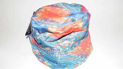 Nwt New Hat Cap Bucket Size Stretch L/xl Watercolor Sublimated Reversible (B7)