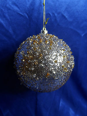 Beaded and Glittered Ball Christmas Tree Ornament new holiday decorations