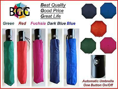 BGG Automatic Compact Folding Umbrella Windproof Sun Rain Anti UV Various Colors