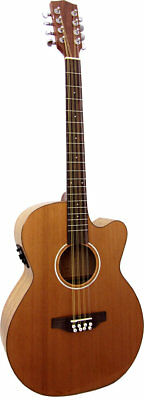 Ashbury LINDISFARNE OCTAVE MANDOLA, Guitar Body. Solid Cedar top. From Hobgoblin