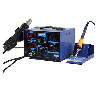 YiHua 862D+ 2in1 110V SMD Rework Soldering Iron Station Hot Air Desoldering Kit