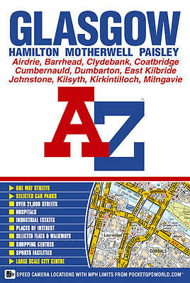 Glasgow Street Atlas, Geographers A-Z Map Company | Paperback Book | Acceptable