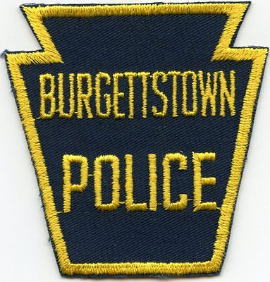old vintage BURGETTSTOWN PENNSYLVANIA PA POLICE PATCH