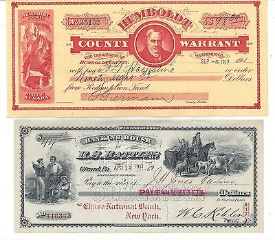 4 Bank Checks/Drafts 1882-1917