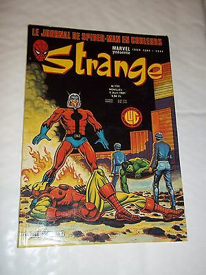 """STRANGE no 136"" (1981) MARVEL / LUG / DAREDEVIL / IRON MAN / SPIDERMAN / ROM"