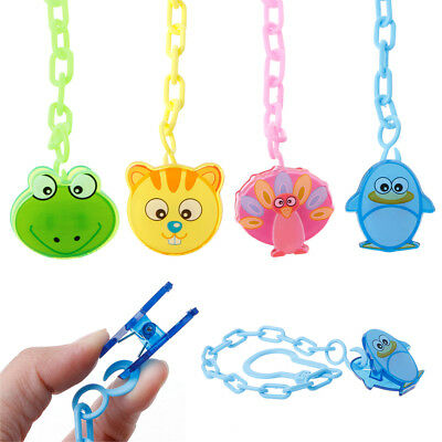 Baby Pacifier Chain Clip Anti Lost Dummy Soother Nipple Holder Animal Cartoon