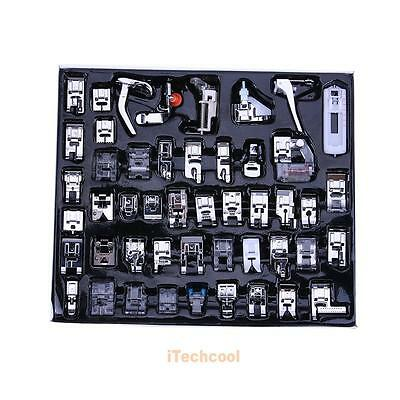 48pcs Domestic Sewing Machine Foot Presser Feet Kit For Brother Singer Janome