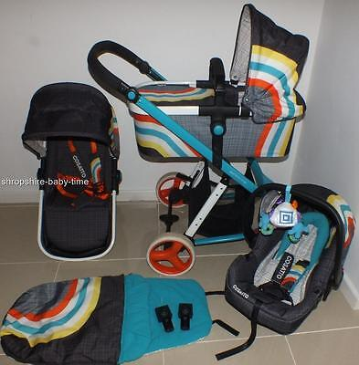 Cosatto Giggle 2 full travel system in New Wave with car seat & carrycot