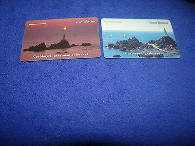 Jersey Telecoms Lighthouses Set of 2 Phonecards