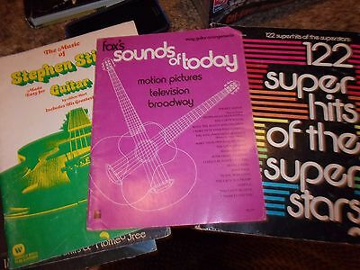 Lot of 3 sheet music music books - Stephen Stills Super Hits - 70s - LOTFOL