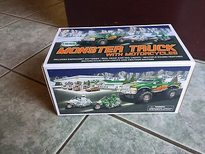 Hess Monster Truck With Motorcycles 2007 New In Box