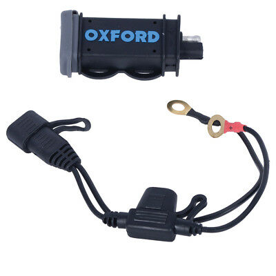 Oxford Products Motorcycle USB Charger  - 2.1Amp Power Charging Kit (EL114)