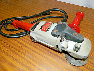 "Milwaukee Model 6068 7/9"" inch Angle Grinder HEAVY DUTY 15 AMP 120V Works Great!"