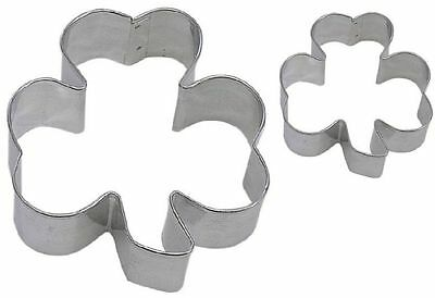 2 Piece Shamrock & Mini Shamrock Cookie Cutter Set NEW! Green