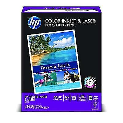 HP Color Inkjet & Laser Paper, 24 lbs, 8.5 x11-Inch Letter, 97 Bright, 400