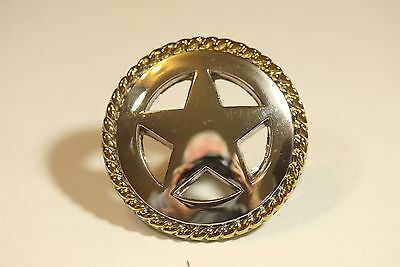 Star Rope Knob 2Tone Western Cabinet Hardware Drawer Pulls Texas Star Knobs  Pull