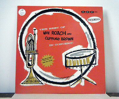 MAX ROACH and CLIFFORD BROWN LP The best of in concert 1956 GNP Crescendo jazz