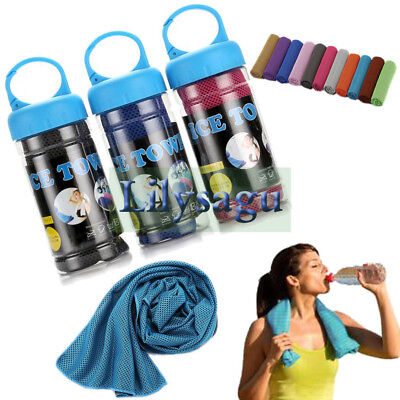 100Pcs Lot Cooling Towel Sports Gym Towel Drying Sweat Pets Baby Absorb Dry Case