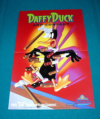 DAFFY DUCK : Video Store PROMO POSTER @ Looney Tunes CARTOON