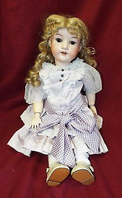 "Old Antique 20"" HEUBACH KOPPELSDORF #302 German Bisque Head Sleep Eyes DOLL"